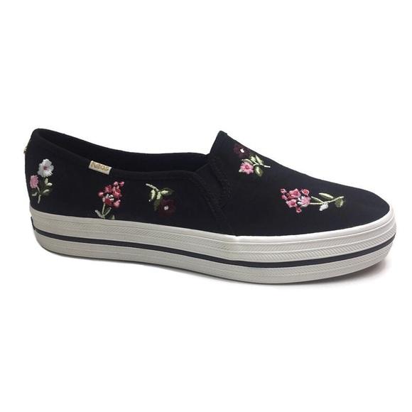 Keds Kate Spade Triple Decker Floral Sneakers 9.5